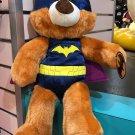 "Six Flags Magic Mountain DC Comics Batman Teddy Bear Plush 16"" New w/ Tag"