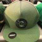 Six Flags Magic Mountain DC Comics Green Lantern Army Green Snapback Hat New