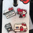 Universal Studios Hello Kitty Collectible 4 Pin Set New on Card