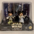 Disney Parks Star Wars Star Tours Luke Skywalker Princess Leia 2 Figure Set New