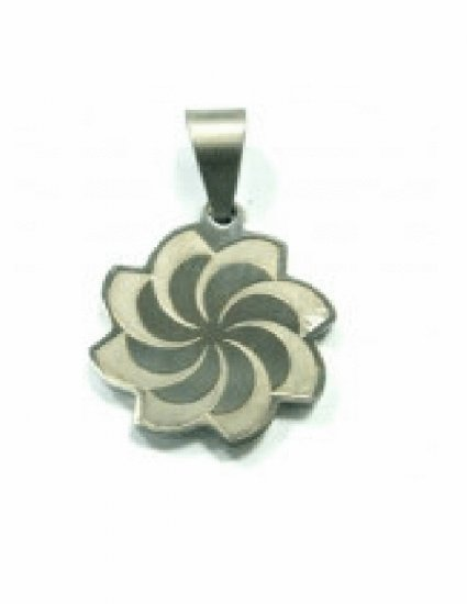 Free shipping--Stainless Steel Wind Wheel Design Pendant