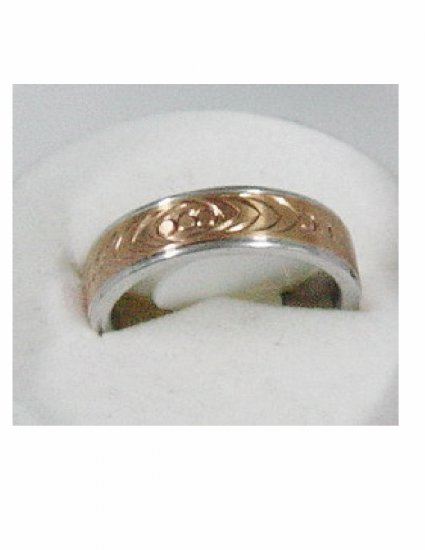 Free shipping--Gold-Plated and Stainless Steel 2-Tone Wedding Ring.