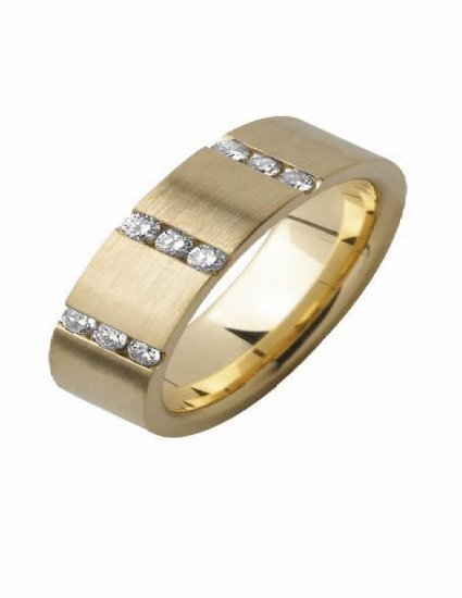 Free shipping---Gold-Plated Steel CZ Wedding Band Ring