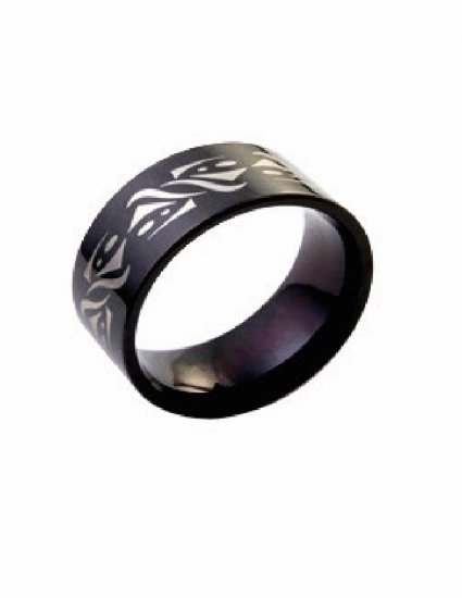Free shipping--Stainless steel Titanium Color  Band Ring
