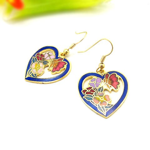 EBK-8003     Cloisonne Earrings