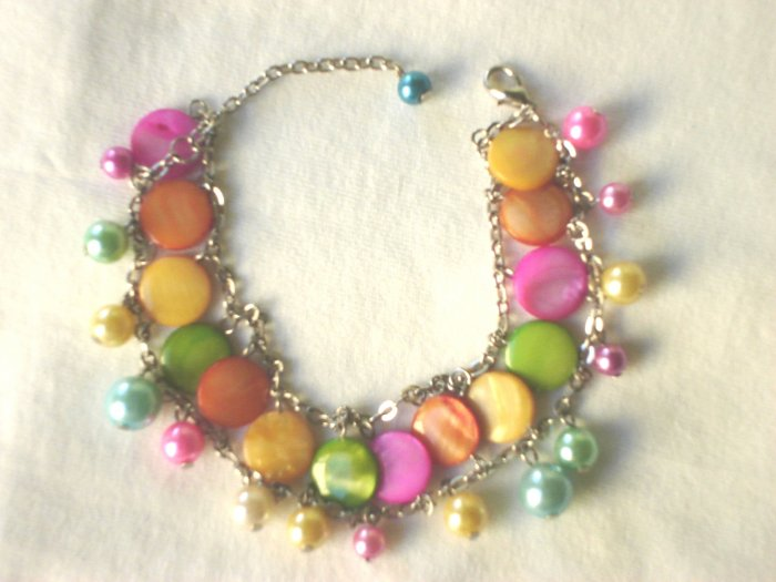 BHX-6041   Natural Shell Bracelet