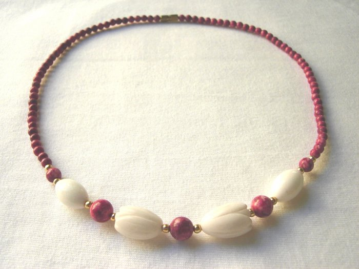NSP-6003      Masan Stone, Shell Necklace