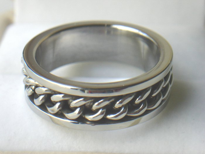 Free shipping--Spinner Chain Stainless Steel Ring