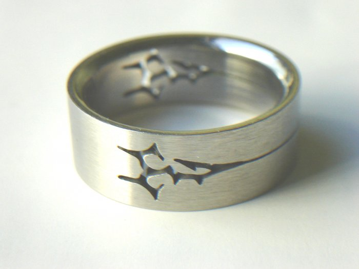 Free shipping--Stainless Steel Laser Cut Ring