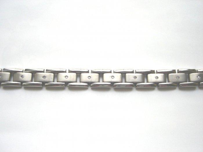 BHD-8006     Titanium and CZ Bracelet