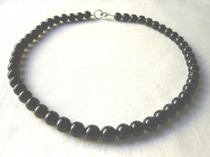 Free shipping---Black Agate Necklace