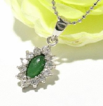 Free shipping---Silver, Jade, CZ Pendant