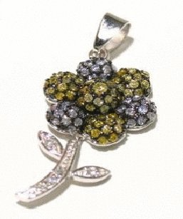 Free shipping---Sterling Silver and CZ Pendant
