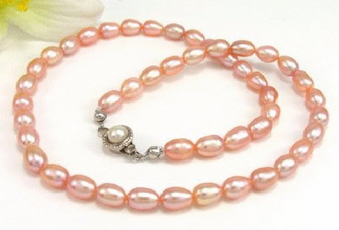 Free shipping---Golden Natural Pearl Necklace
