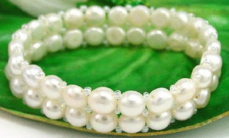 Free shipping---Natural Pearl Bracelet