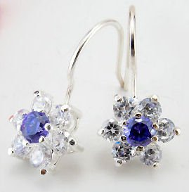 EBK-8011     Sterling Silver, CZ Earrings