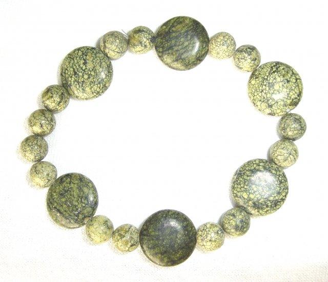 HDB-8002 Moss Jasper Stone Bracelet
