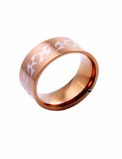 Free shipping--Gold-Plated Stainless Steel Wedding Band Ring
