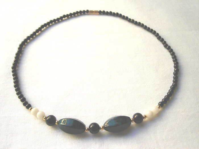 NSP-6005 Masan Stone, Black Agate Necklace