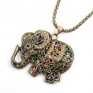 Free shipping---Necklace With Elephant Design Pendant 6pcs/lot