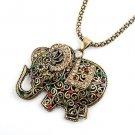 Free shipping---Necklace With Elephant Design Pendant 6pcs/lot