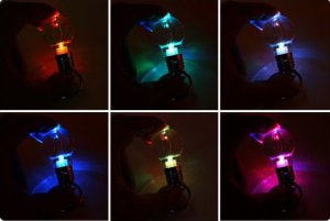 Free shipping---10 pcs/lot flashing  multi-color rotating LED bulb Christmas tree ornaments