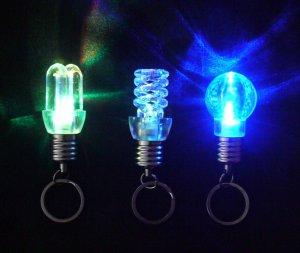 Free shipping--50 pcs/lot flashing  multi-color rotating LED bulb Christmas tree ornaments