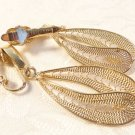 VINTAGE DESIGNER TRIFARI GOLD PLATED FILIGREE DROP EARRINGS LOVELY SET