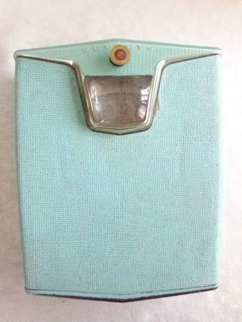 ART DECO RETRO TEAL BLUE GREEN DETECTO BATHROOM WEIGHT SCALE