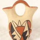VINTAGE SOUTHWEST SIGNED ART POTTERY MINIATURE WEDDING VASE ME TOYR LOVELY