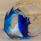 VINTAGE HAND BLOWN CRYSTAL COBALT GLASS FISH FIGURINE PAPERWEIGHT SUNFISH LOVELY