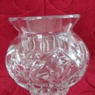 "VINTAGE CUT CRYSTAL GLASS PETITE FLORAL VASE 3.5"" TALLL LOVELY CUT GLASS"