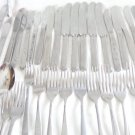 VINTAGE HUGE STAINLESS STEEL FLATWARE LOT ONEIDA EKCO USA HULL 86p CRAFTS DESIGN