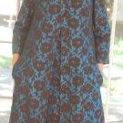 AMAZING VINTAGE ELIZABETH ARDEN SIZE 8-10 1950'S SLEEVELESS DRESS MATCHING COAT