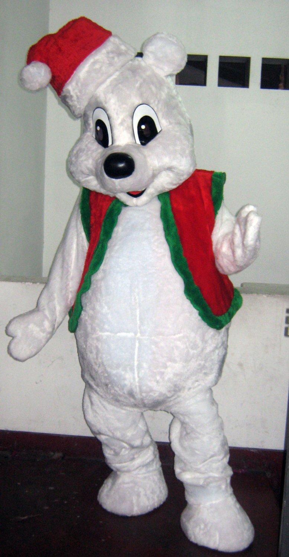 Christmas Bear Mascot Costume Adult Costume