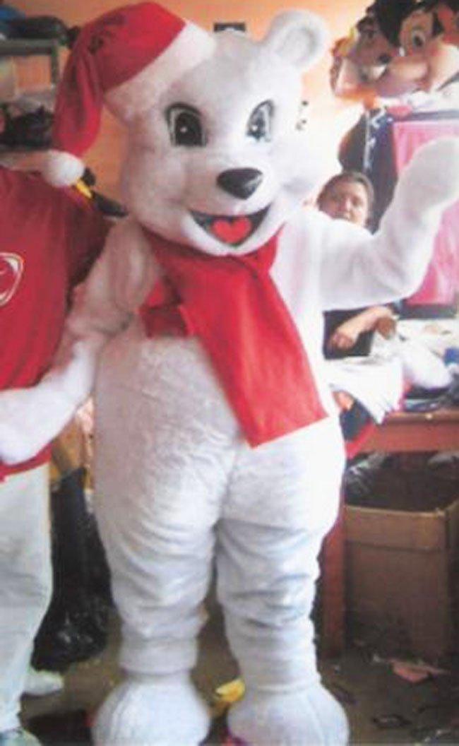 Christmas Bear Mascot Costume Adult Costume 002