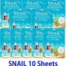 Snail Ultra hydrating essence mask pack 10 sheets
