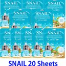 Snail Ultra hydrating essence mask pack 20 sheets
