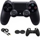 Dual Shock Wireless Bluetooth Game Controller +Rocker cap + cable+ Silicone case for Sony PS4
