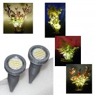 Silver Grey Plant Pot Display Lights / Uplighters / Plant Pot Spike Lights with Mains Adapter