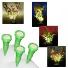 2 Pairs of Green Plant Pot Spike Lights / LED Plant Pot Uplighters / Display Lights