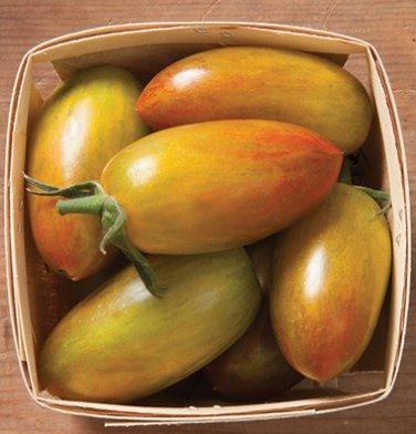 HEIRLOOM NON GMO Lucky Tiger Tomato 25 seeds