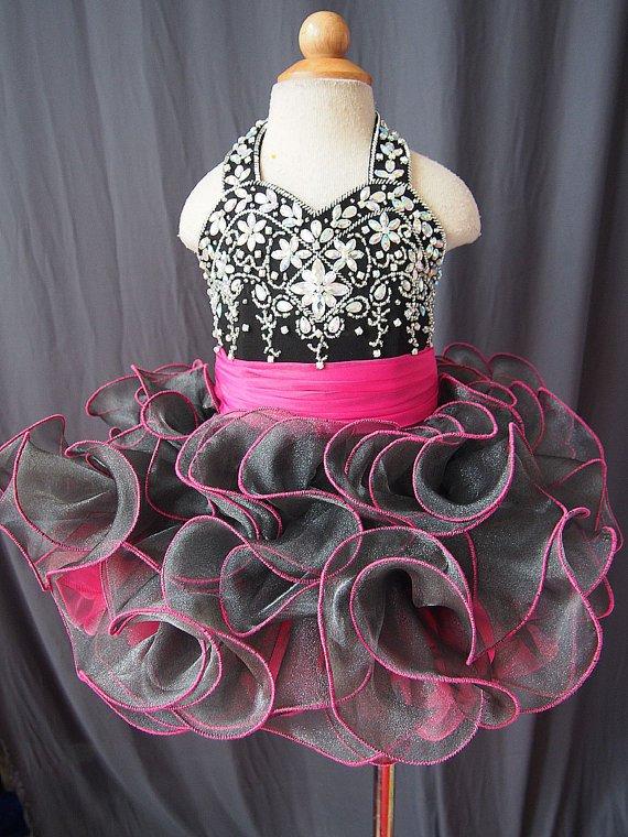 flower girl dress handmade 100% beadings N1508021101