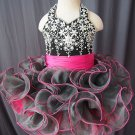 flower girl dress handmade 100% beadings N1508021101