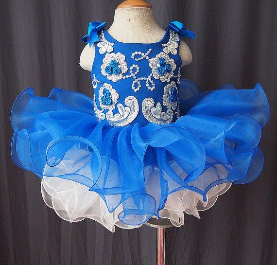 flower girl dress handmade 100% beadings N1508021401