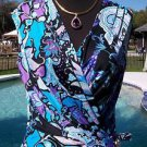 Cache $168 Faux WRAP Dress NWT STRETCH SELF-BELT DESIGN PLUNGING V LINED 6 8 S/M