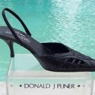 Donald Pliner $265 COUTURE  COBRA LEATHER Shoe NIB 5 6.5 POINTY TOE SLING BACK