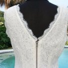 Cache $168 LACE TEXTURE STRETCH FULL BACK ZIPPER DRESS LINED NWT S/M 4/6/8