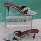 Donald Pliner $225 COUTURE KOGI GATOR LEATHER SANDAL Shoe NIB SLIDE STRAPPY