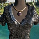 Cache $198 SEQUIN ENCRUSTED JACKET Top SHRUG NWT XS/S/M/L EVENT LINED RED CARPE